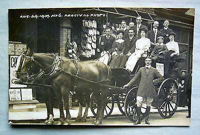Theatrical   Horse Drawn  Real Photograph  Barnstable 1907