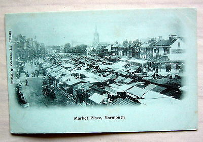 Yarmouth Market Place real Photo Postcard