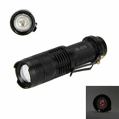 Wiel IR Lamp 850nm Zoomable 3W Infrared Flashlight Night Vision Hunting Torch Is