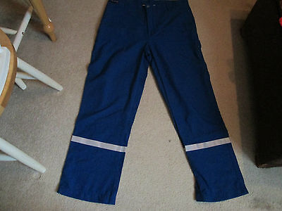 Red Wing FR Royal Blue Nomex IIIA Pants/ Safety Stripes 38x30