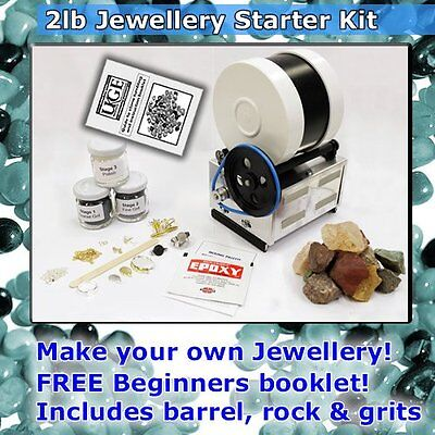 2lb Stone Tumbler Starter Pack with Jewellery Kit