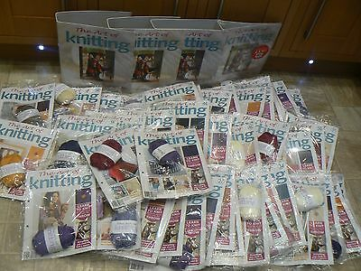 THE ART OF KNITTING Magazines 48 With Wool Sealed & 4 Folders