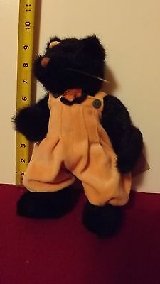 Boyds Bears Halloween black Cat Spooky fully jointed w tags