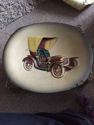 Bossons Car Wall Hanging Plate - Collectable.  Siddeley 1904