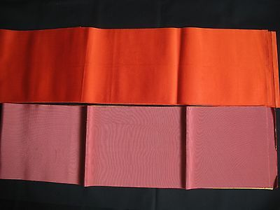 Japanese Authentic Two Hanhaba Obi Sashes
