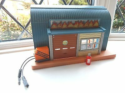 Mike Floods Workshop With Welding Gear And Fire Extinguisher From Fireman Sam