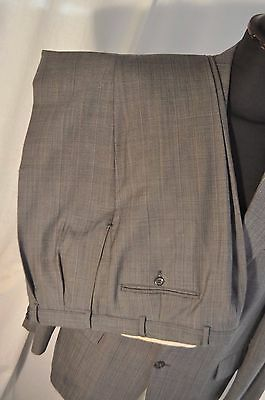 "Vintage 1970's grey check 2 piece suit size large 42"" waist 36"" made Britain"