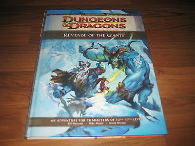 D&D 4th Edition Revenge of the Giants Adventure Hardcover WotC 2009 Neu New+ Map