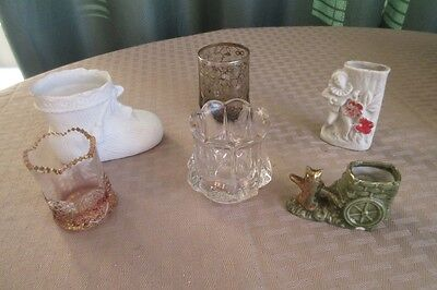Lot  of 6    Vtg. Toothpick/Match Holders