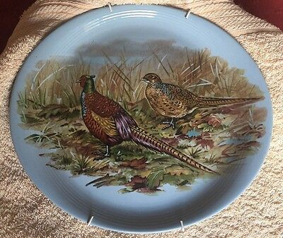 Liverpool Road Pottery Ltd 27 cm Oval Pheasant Plate Blue Ready to Hang