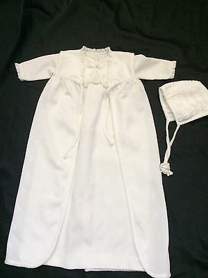 christening gown 3 Pieces Vintage White