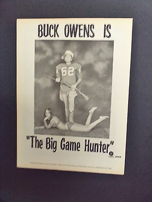 BUCK OWENS...1973  Original Promo Poster Picture Ad