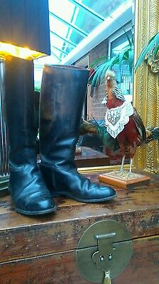 Reduced Fabulous leather regent horse riding boots 6, prop, hunting. Steampunk