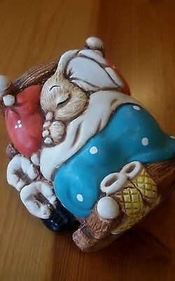 'Cradle' Gorgeous Hand Painted Stoneware Woodlander Character