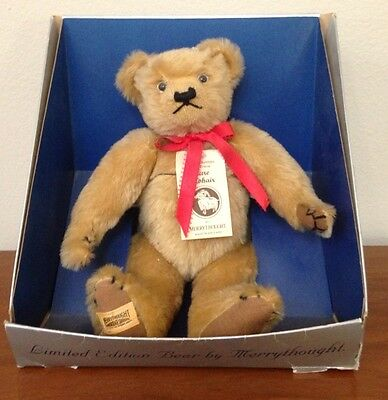 New NIB Merrythought England Mohair Bear Limited Edition 121/1000