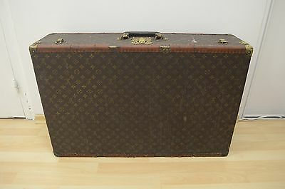Rare Antique 1940's Louis Vuitton Monogram Briefcase Trunk Bag for Restore 80 cm