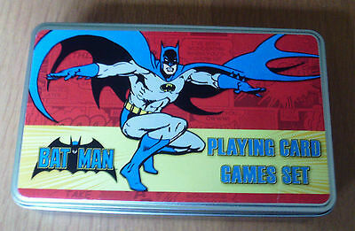 Batman Playing Card Games Set In A Tin Retro Brand New - Poker Dice