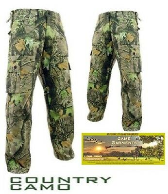Stormkloth Country Camouflage Cargo Combat Trousers. Hunting, Shooting, Fishing