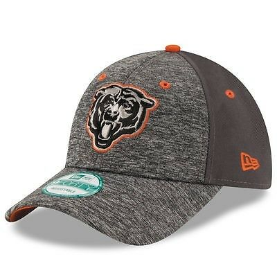 Chicago Bears New Era 9Forty Shadow Adjustable Cap - Heather Grey/Graphite