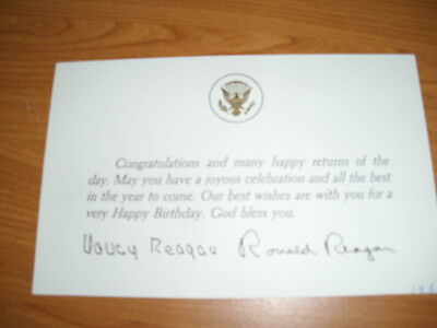 USA Präsident  Ronad+Nancy Reagan  Signed   FDC White House autographed