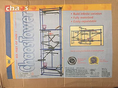 CHAOS TOWER Motorized Marble Run Building Rube Goldberg Kit FOR PARTS & instruct