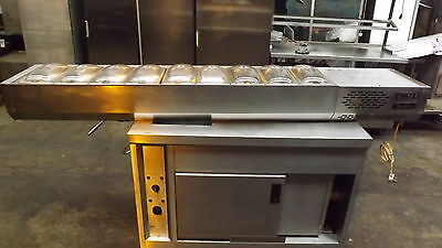 Commercial All Stainless Steel Counter Top Pizza Prep Fridge