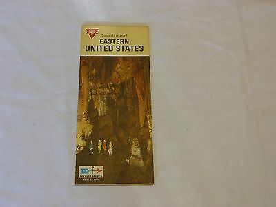1970 CONOCO Eastern United States Road Map Discover America Best By Car