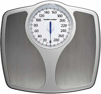 Bathroom Weight Scale Stainless Steel Analog No Batteries Speedometer Dial 330lb