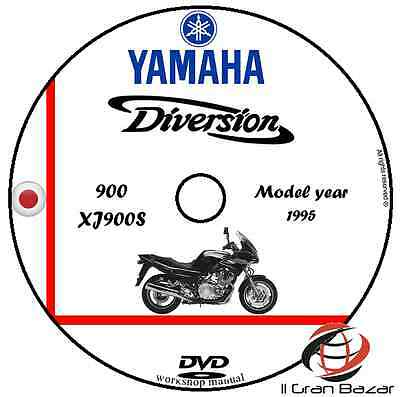 Manuale Officina Yamaha Diversion 900 Xj 900S My 1995 Workshop Manual Cd Dvd
