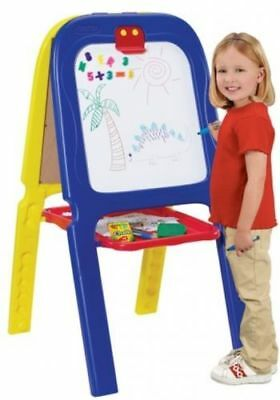 Crayola 3 in 1 Double Easel With Magnetic Letters Kid Activity Play Draw Art New