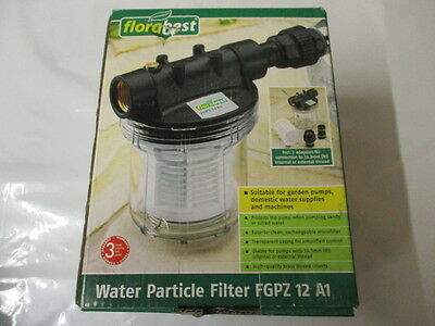 Water Pump Water Particle Micro Filter 33.3mm (r1) Brass Thread 4000 L/H 5.5 Bar