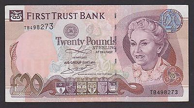FIRST TRUST BANK == 20 POUNDS BANKNOTE== 01/05/2007 ==aUNC