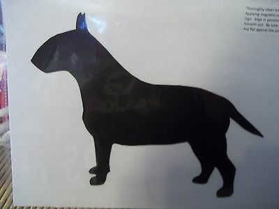 Exquisite Bull Terrier Car Magnet Hand Cut and Painted You pick style color