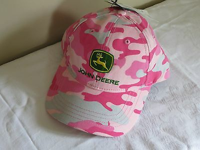 John Deere Pink Camo Genuine Cap / Hat BRAND NEW W TAGS Youth ONE Size