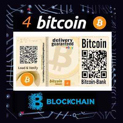 4.0 Bitcoin Gift Certificate Free International Delivery BTC Crypto Currency