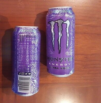 1x Cans Monster Energy Drink 16oz Ultra Violet New