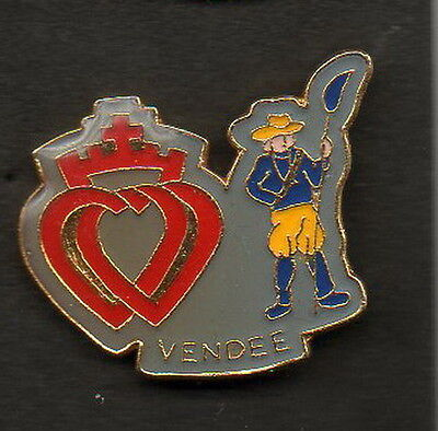 1 Pin's - Double Coeur Vendeen Qualite - Collection