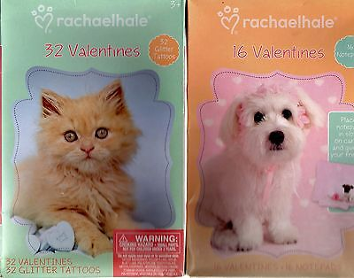 Valentine's Day Cards 3 Boxes /w 56 cards PUPPIES AND  KITTIES