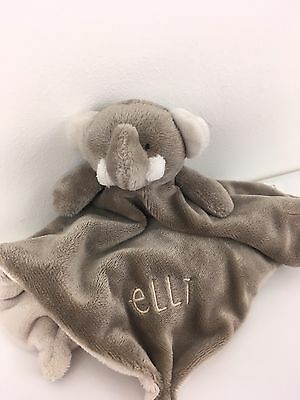 Elli Elephant Brown Cream  SOFT TOY BLANKIE Baby COMFORTER Soother