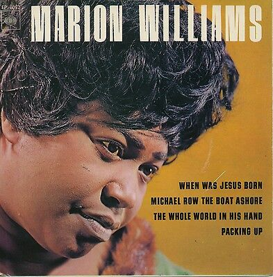 "MARION WILLIAMS ""When Jesus Was Born"" (1965) UK 4 track EP"