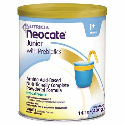 Neocate Junior with Prebiotics, Vanilla,  14.1 oz / 400 g 1 can