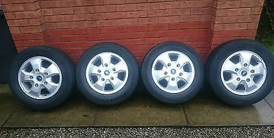 4 x Ford Transit Custom Alloy Wheels and Tyres