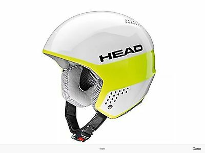 Head Stivot Youth Ski Race Helmet New Size Extra Small 52-53Cm White And Yellow