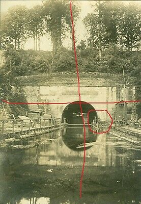 Lot de 3 photos allemandes du Tunnel de Riqueval Bellicourt (Aisne guerre WW1)