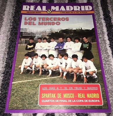 1980-81 EUROPEAN CUP 1/4 FINAL Real Madrid v Spartak Moscow (USSR)