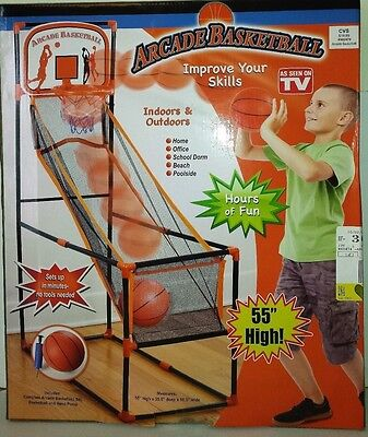"ARCADE BASKETBALL Indoors & Outdoors. 55"" High,"
