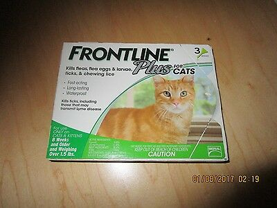 Frontline Plus For Cats 3 Month Supply FAST FREE SHIPPING 3 Pack