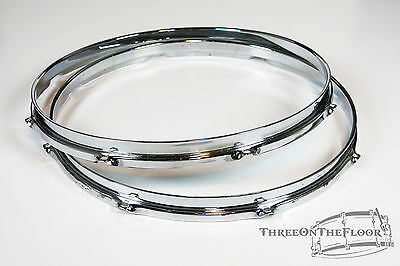 """1960s Rogers 14"""" Hoops : Snare Drum / Floor Tom Powertone Holiday Cleveland  HP1"""