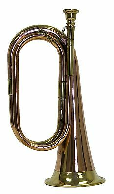 Brass and Copper Bugle - Cavalry US British Army One Size fits Most