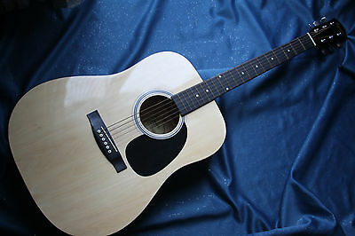 Used Fender Squier Dreadnought Acoustic Guitar, MPN 093-0030-021, Bag Included